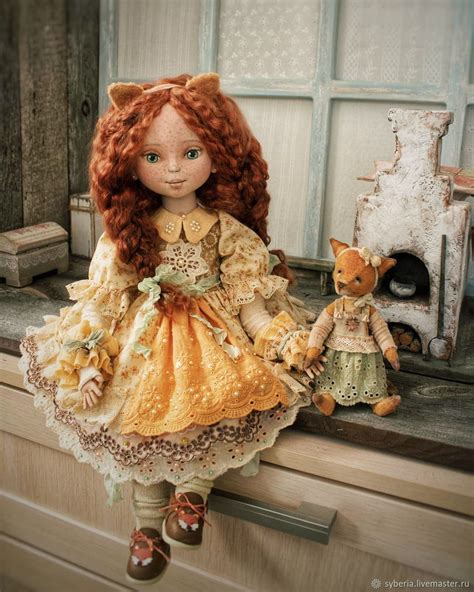 lizaveta    authors textile doll collectible