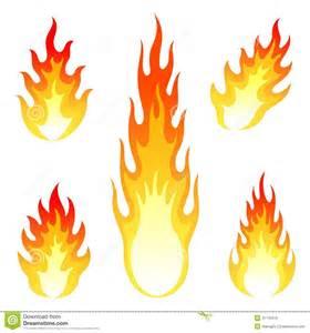 beleuchtung chamã brennender feuer und flammenvektorsatz an lokalisiert