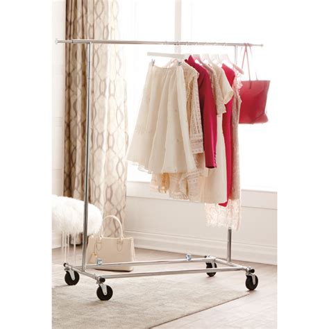 Clothes Rack Commercial by Chrome Metal Folding Commercial Clothes Rack The