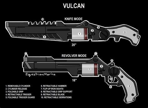 friday knife gun club books rwby oc weapon by equestrianmarine deviantart on