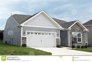 small 2 car garage homes condo with two car garage royalty free stock photography