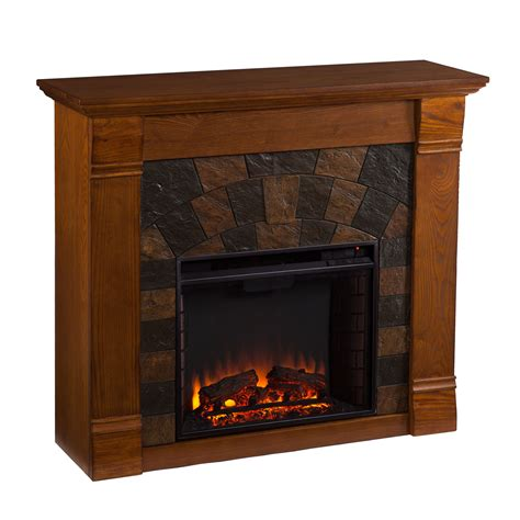 Oak Electric Fireplace Elkmont Oak Electric Fireplace Southern Enterprises Electric Fireplace Fireplaces