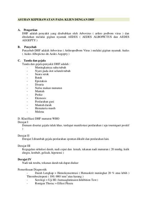 format askep penyakit stroke asuhan keperawatan pada klien dengan dhf
