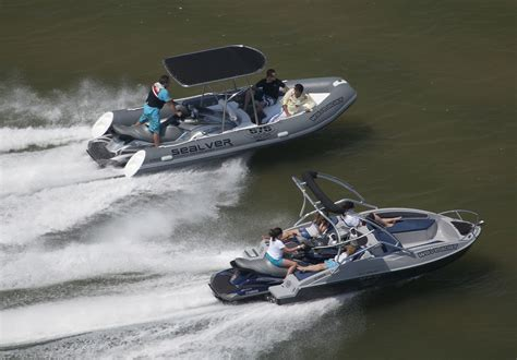 jet ski and boat video turn your jet ski into a sealver wave boat the