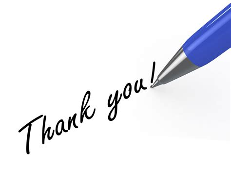 0914 thank you note with blue pen on white background