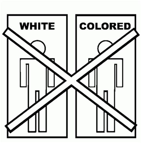 No Segregation Gif Where Is The Love Civil Rights Coloring Pages
