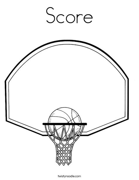 basketball scoreboard coloring pages score coloring page twisty noodle