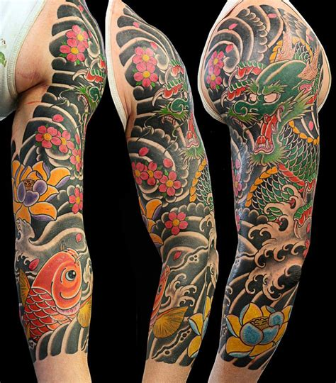 asian tattoo sleeve japanese sleeve on tattoochief japanese