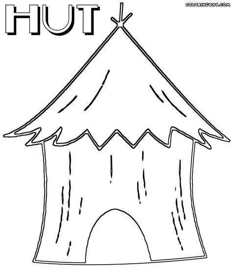 tiki hut drawing hut coloring download hut coloring