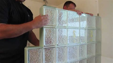 installing a bathroom window how to install a glass block shower wall enclosure in a