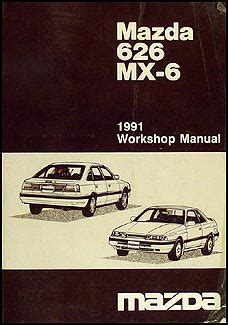 motor auto repair manual 1991 mazda mx 6 parking system 1991 mazda 626 mx 6 repair shop manual original