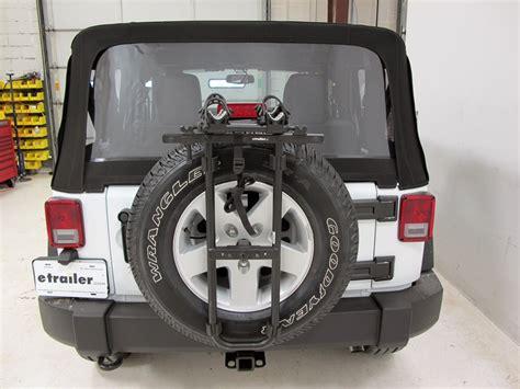 jeep wrangler hollywood racks sr  bike carrier spare tire mount