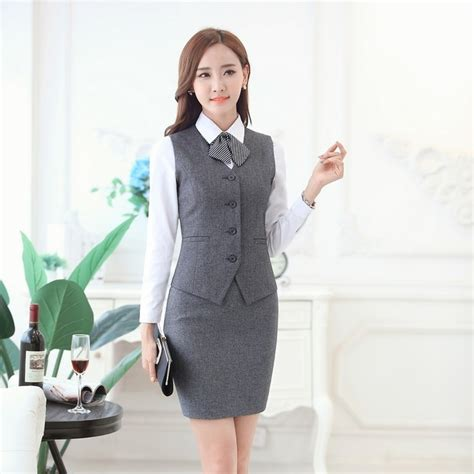 Vest Set Blazer Dress Skirt aliexpress buy fashion business suits with