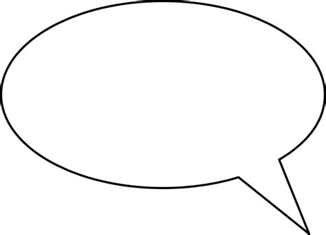 blank speech bubble clip art at clker com vector clip