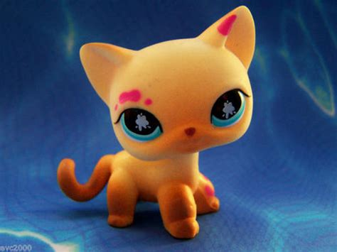 littlest pet shop painting other collectable toys littlest pet shop cat painting