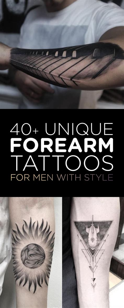 forearms tattoos for men 40 unique forearm tattoos for with style tattooblend