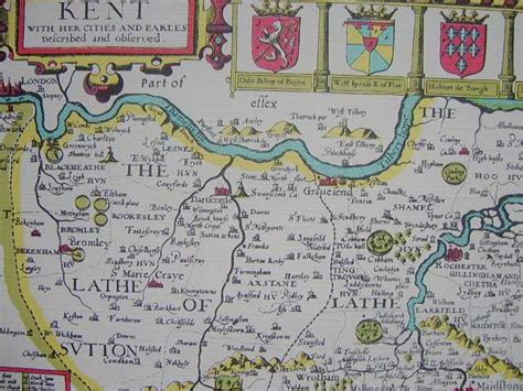 printable map kent reproduction print of antique map kent 1611 the