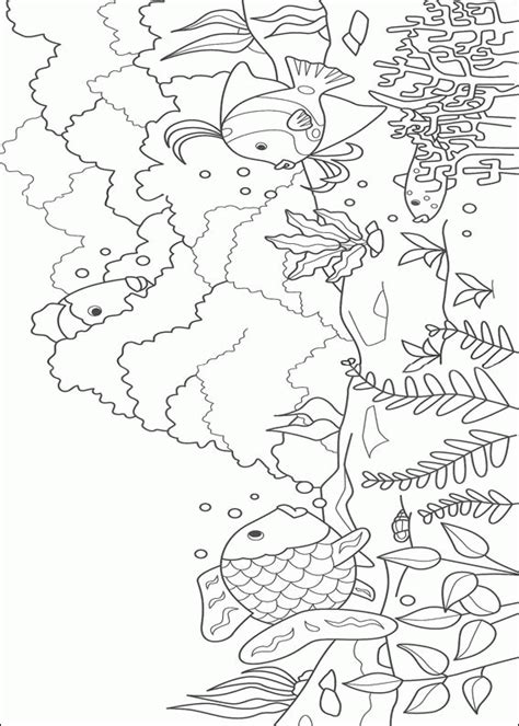 rainbow fish coloring page printable coloring pages