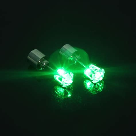 women s men s light up led bling ear studs earrings