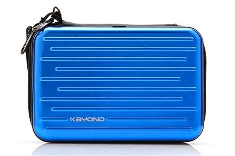 kayond anti shock silver aluminium carry travel protective storage bag for 2 5 quot inch