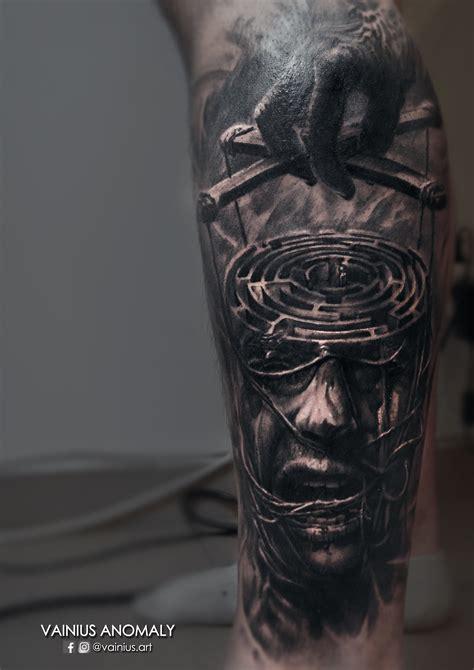 dark evil tattoo designs vainius cesnauskas certified artist