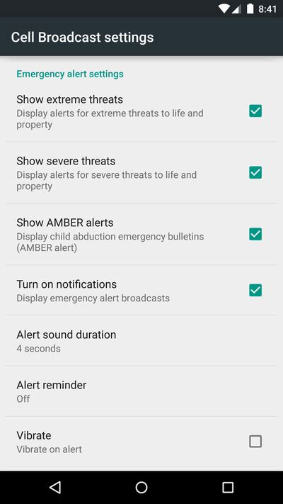 emergency alerts android managing emergency alerts in android lollipop android central