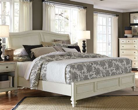 aspen white bedroom furniture aspenhome furniture sleigh bed cottonwood asi67 400 4bed