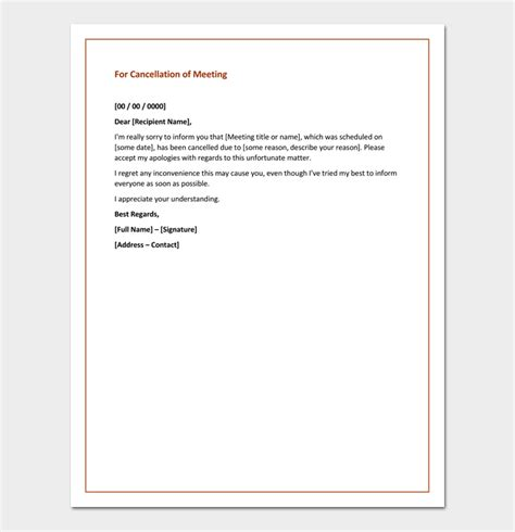 Cancellation Letter Conference Apology Letter For Cancellation Sles Exles Formats