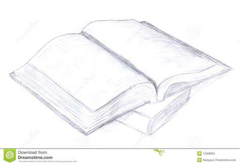 open sketch opened book sketch icon stock images image 12368094