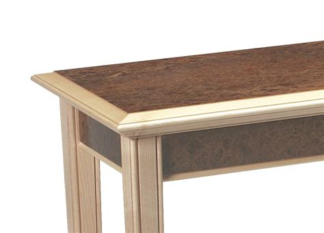 enquiry for maple and elm console table in maple burr elm makers eye