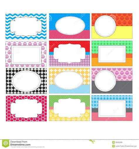set of colorful labels stock illustration illustration of