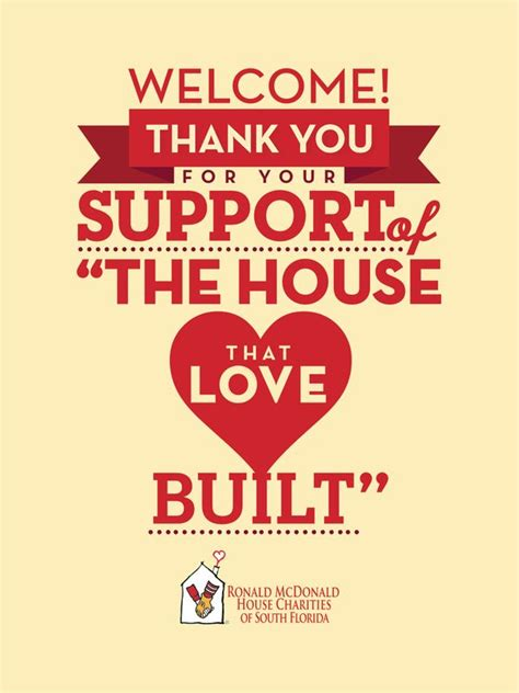 ronald mcdonald charity house ronald mcdonald house charities thank you poster design by arlene delgado via behance