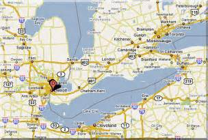Windsor Canada Map by Windsor Canada Map