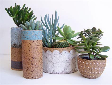 succulant planter succulent planter ceramic planter stoneware pottery