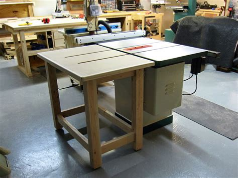 table saw outfeed table by doncutlip lumberjocks com