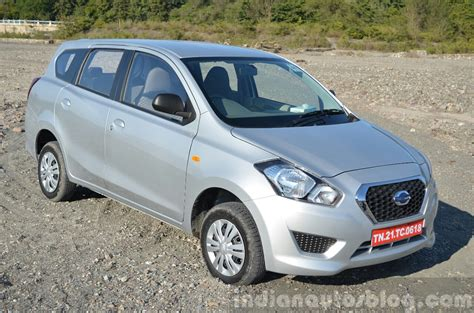 datsun go review datsun go front three quarters review indian autos