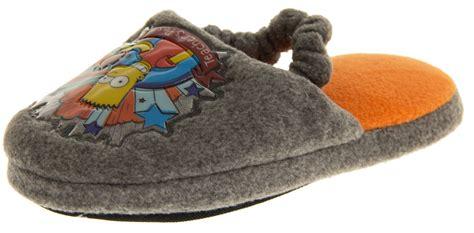 boys slippers size 2 new boys bart slipper the simpsons slippers