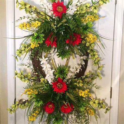42 best spring door wreaths images on pinterest spring door 42 best spring wreaths summer wreaths fall wreaths for