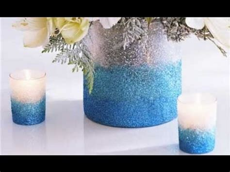 how to make simple diy flower arrangements glitter inc how to make an ombre glittered vase youtube