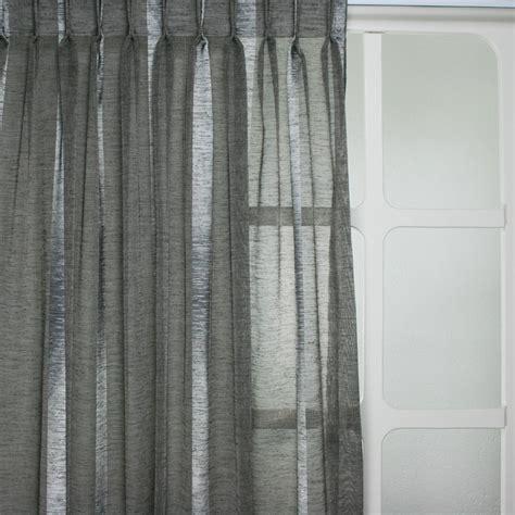Witte Inbetween Gordijnen by Inbetweens Ravenna Streep Grijs