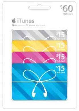 Itunes Gift Card Pack Discount - alicias deals in az save 10 on a 4 pack of 15 itunes gift cards at target