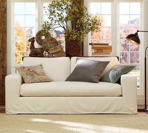 solano slipcovered sofa pottery barn