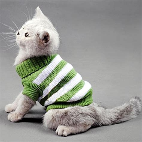 cats jaket sweater striped cats sweater aran pullover knitted clothes for