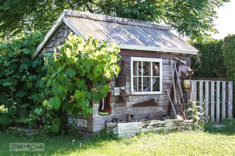 Rustic Shed by Rustic Shed Reveal With Sawhorse Potting Bench And