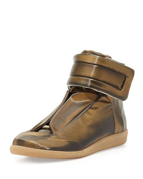 maison martin margiela future sneakers maison margiela future high top sneaker gold