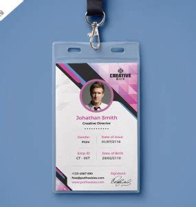 medical id card design download free modern id card psd download psd