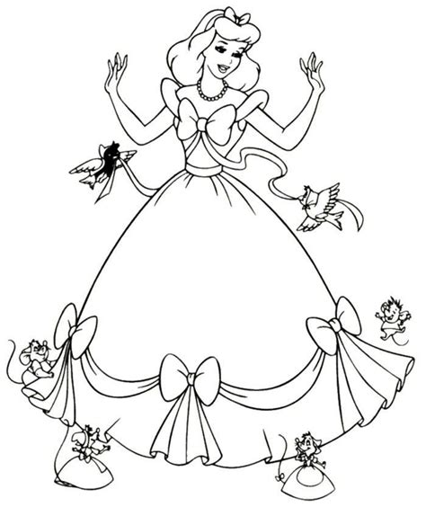 cinderella mice coloring pages coloring home