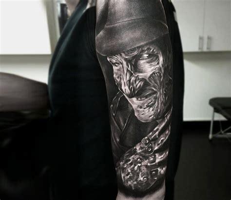 black and grey horror tattoos realistic movies tattoo by rob richardson tattoo no
