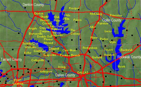 texas golf courses map golf courses and golf communities in the dallas area