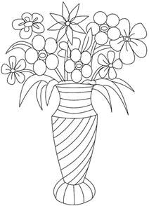Galerry flower vase coloring pictures